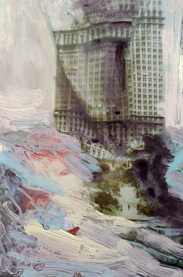Battery-Park,--C--Print-and-Gouache,-10-x-15-cm,