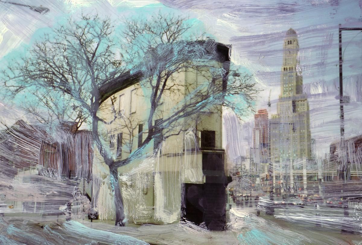 Bergen-Street,--C--Print-and-Gouache,-10-x-15-cm,