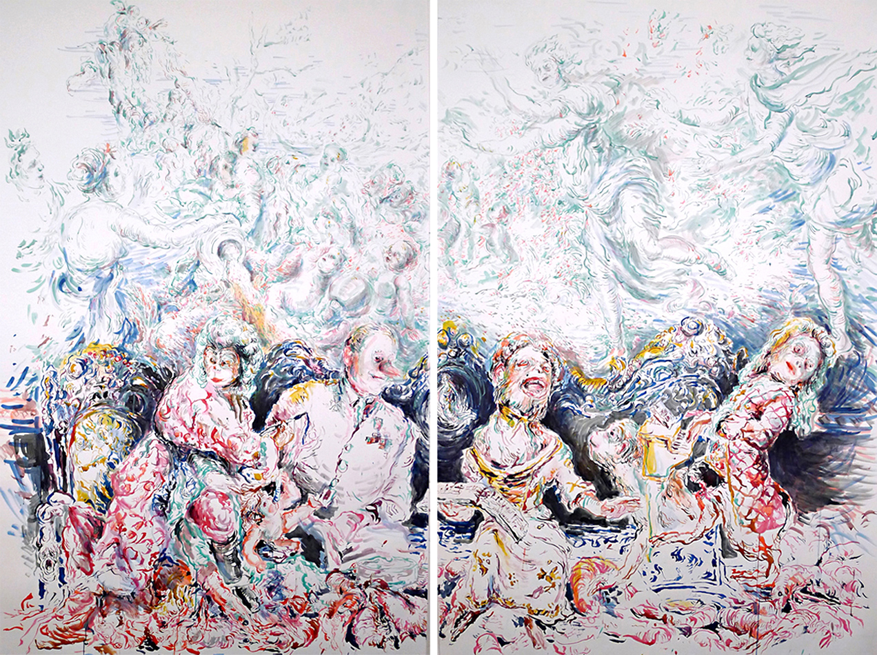 Chapter-8,-In-The-Madhouse,--ink-on-paper,-200-x-260-cm