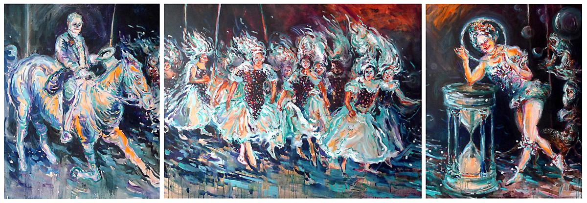 Das-Ende-der-Jugend,-oil-on-canvas,100x-260cm