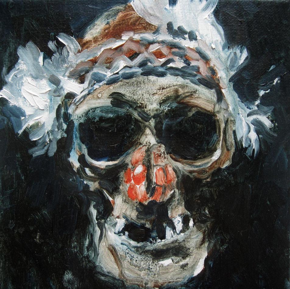 SKULL-oil-on-canvas-15x15cm2011