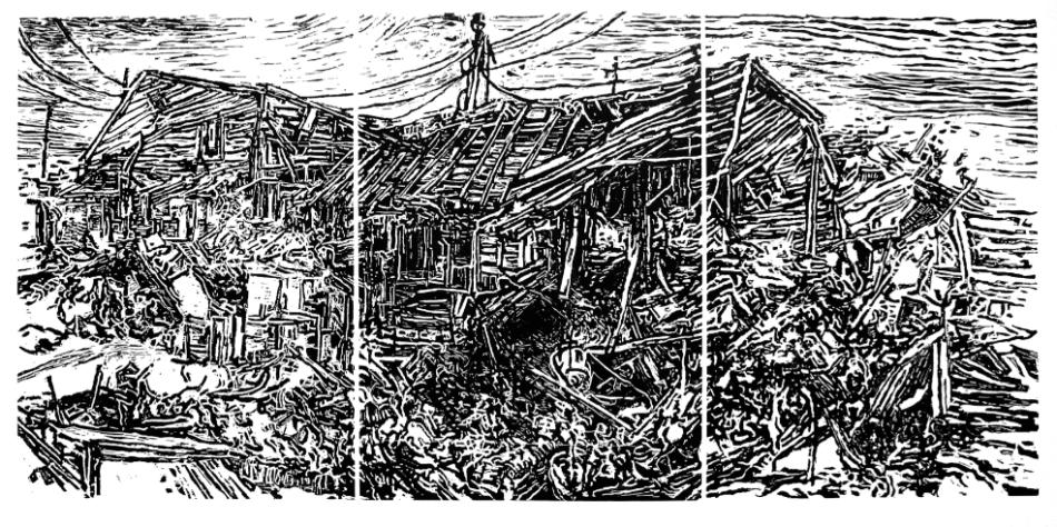 American-Landscapes 7, Holzschnitt, 100 x 140 cm Papierformat, 2014